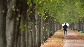 Woche überdurchschnittlich warm: Regen macht sich in Landesmitte breit