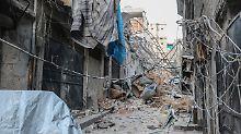 Schwere Zerstörung im Ostteil Aleppos.