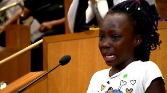 """9-Jährige hält Rede gegen Polizeigewalt: """"Eine Schande, dass wir unsere Mütter und Väter beerdigen müssen"""""""