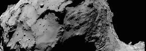 ... Bilder von der Osiris-Weitwinkel-Kamera. Hier hatte Rosetta heute am frühen Morgen (4.17 MESZ) im Visier, wo sie um die Mittagszeit aufschlägt.