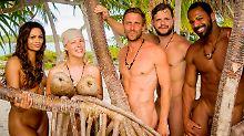 Allesamt aalglatt rasiert: Chantel, Leo Bartsch, Peer Kusmagk, Kushtrim und Jesse