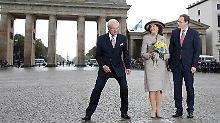 Gaucks letzte Gäste?: Schwedische Royals im regnerischen Berlin