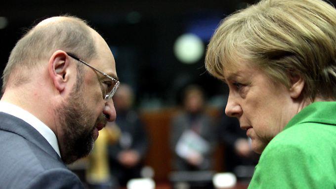 Treten Martin Schulz und Angela Merkel bei der Bundestagswahl gegeneinander an? Es ist zurzeit jedenfalls nicht unwahrscheinlich.