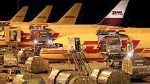 Durch zwei neue Terminals am Flughafen Leipzig-Halle können 150.000 Express-Sendungen pro Stunde bearbeitet werden.