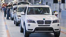 Im amerikanischen Spartanburg produziert BMW vor allem Modelle der X-Reihe, hier den X3.