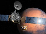 """Die Illustration zeigt, wie sich """"Schiaparelli"""" vom Trägersatelliten trennen und sich Richtung Mars bewegen soll."""