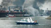 Explosion in Ludwigshafen: Feuerwehr bekämpft Großbrand bei BASF