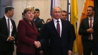 Gipfel zu Krisen in Ukraine und Syrien: Merkel empfängt Putin in Berlin