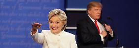 Trump kann nicht punkten: Clinton entscheidet letzte Debatte für sich