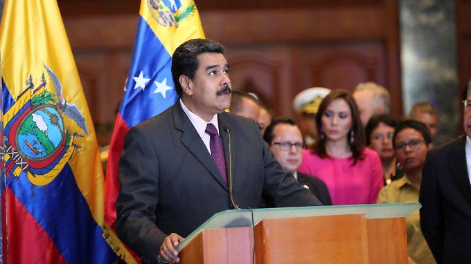 Präsident Maduro klammert sich mit allen ihm zur Verfügung stehenden Mitteln an die Macht.