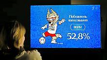 """Eine knappe Mehrheit entschied sich für den Wolf """"Sabiwaka"""" als Maskottchen der Fußball-WM 2018 in Russland."""