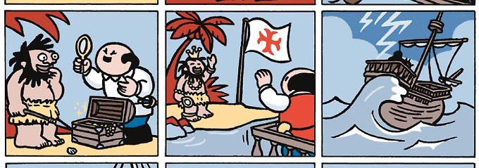 """""""Dickie"""" feiert Erfolge in flämischen und niederländischen Zeitungen - zur Buchmesse erscheint ein Sammelband des schwarzhumorigen Strips auf Deutsch."""