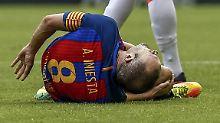 Messi macht's Last-Minute: Iniesta fehlt Barça bis zu acht Wochen