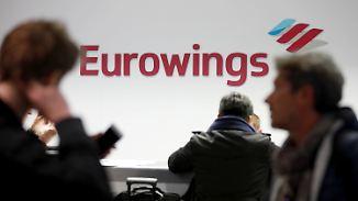 Tarifkonflikt bei Eurowings: Treten Flugbegleiter ab Mittwoch in den Streik?
