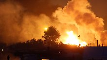 """Feuer im Flüchtlingslager in Calais: Gasflaschen explodieren im """"Dschungel"""""""