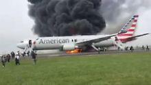 Vorfälle in Chicago und Florida: Zwei Flugzeuge fangen Feuer