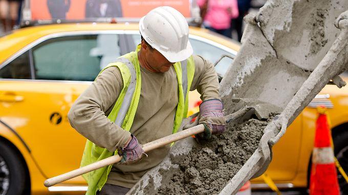 Bauarbeiter in New York.