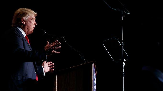 Donald Trump bei einem Wahlkampfauftritt in Reno im US-Bundesstaat Nevada.