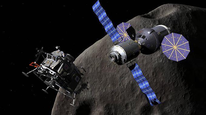 So könnten nach Luxemburger Vorstellungen in Zukunft Asteroiden ausgebeutet werden.