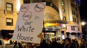 Auch in Washington D.C. gab es Proteste.