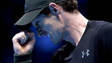 Auch Wawrinka siegt bei Tennis-WM: Murray gewinnt nach 200-Minuten-Kampf