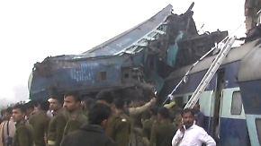 Bahnunglück in Indien: Schnellzug reißt mehr als 90 Menschen in den Tod