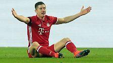"""... Robert Lewandowski überzeugt indes mit Bayern-Logik: """"Wir haben es nicht verdient, hier keinen Punkt zu holen."""""""