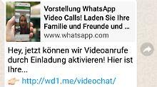 Aktivierung von Videoanrufen: Betrüger legen neue Whatsapp-Falle