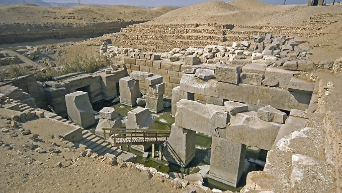 In der Nähe des Tempels von Sethos I. liegt eine noch viel ältere Stadt vergraben.