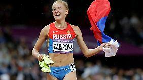 Die Hindernisläuferin Saripowa soll eine Art Schutzgeld gezahlt haben.