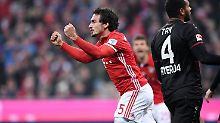 """Bayern ringen Leverkusen nieder: Hummels """"debütiert"""" bei Hoeneß-Rückkehr"""