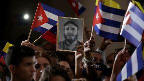 Castros Tod polarisiert: Kuba trauert, Trump lästert, Obama reicht die Hand