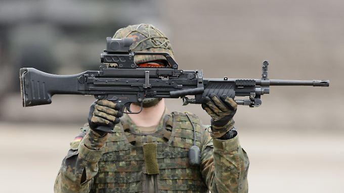 Maschinengewehr MG4 der Firma Heckler & Koch.