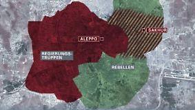 Aleppo kurz vor der Rückeroberung: Syrische Armee treibt Rebellen weiter aus der Stadt