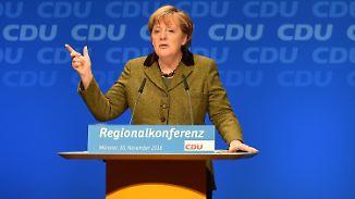 Signal an Grüne und ein Kinderhändedruck: Merkel schaltet langsam in den Wahlkampfmodus
