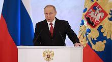 """Jährliche Rede zur Lage der Nation: Putin sucht """"keine Feinde, sondern Freunde"""""""