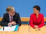 Doppelspitze für Bundestagswahl: Wagenknecht und Bartsch treten für Linke an