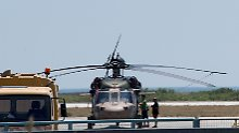 Mit diesem Hubschrauber sind die acht türkischen Soldaten geflohen.