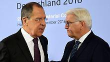 """Steinmeier trifft Amtskollegen: """"Der Ton ist rauer geworden"""""""