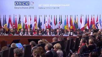 Bilanz des OSZE-Gipfels in Hamburg: Politiker uneins, Polizei zufrieden