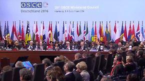 Bilanz des OSZE-Gipfels in Hamburg: Politiker uneinig, Polizei zufrieden