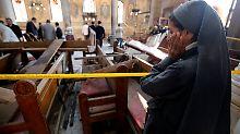 Anschlag auf Kopten in Kairo: Mindestens 25 Tote bei Explosion in Kirche