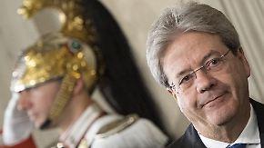 Neuer Regierungschef in Italien: Gentiloni steht vor Mammutaufgabe
