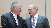2012 verlieh Wladimir Putin Exxon-Boss Rex Tillerson den Freundschaftsorden. Nun wird er wohl US-Außenminister.