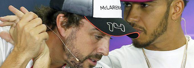 Kommende Saison wohl keine Teamkollegen: Fernando Alonso und Lewis Hamilton.