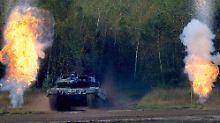 Zur Abschreckung von Russland: Bundeswehr schickt 26 Panzer nach Litauen