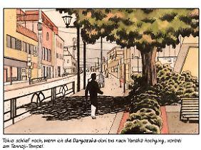 Igort passte sich an die japanische Lebensweise an - und ging immer wieder auf Entdeckungsreise durch die Straßen - was er in Skizzen festhielt.
