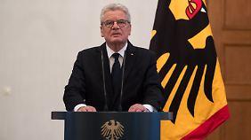 "Ansprache in Berlin: Gauck: ""Dieser Anschlag galt uns allen"""