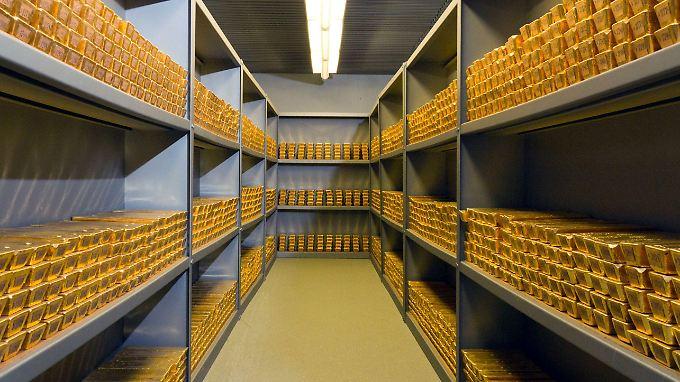Bei der Bundesbank in Frankfurt lagern mehr als 1400 Tonnen Gold.