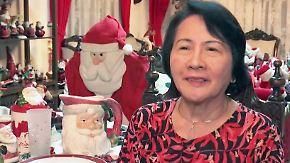Touristenattraktion in Manila: Philippinerin ist dem Weihnachtsmann verfallen
